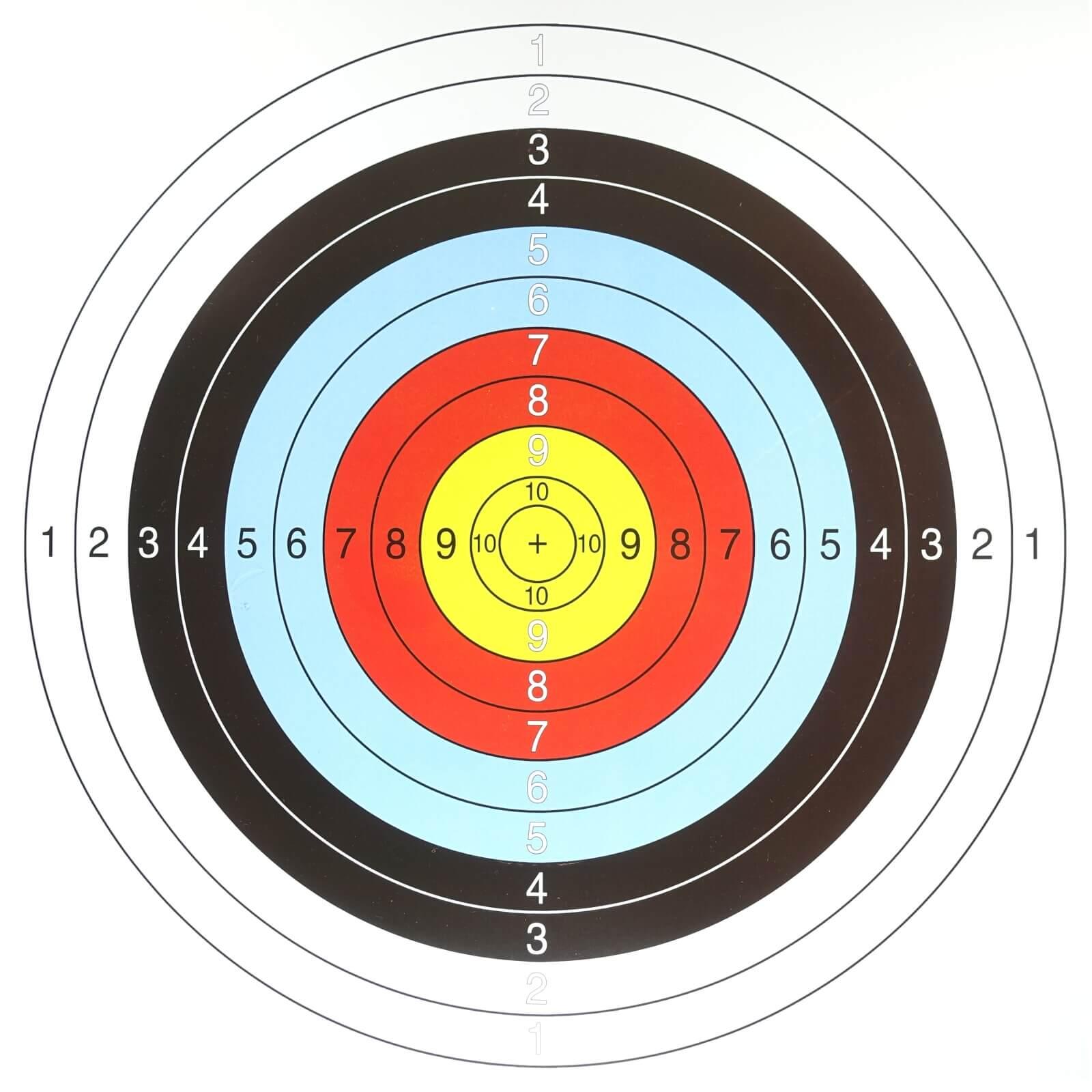 Archery Arrow Target Sheet 10 Rings 12 Counts 40 Cm